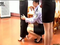 Chinese women frisk